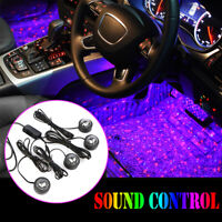 USB Car LED Atmosphere Lamp Sound Control Interior Ambient Star Light Decoration