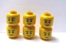 Lego 6 cabezas de Cabeza para Niño Niña Mujer Hombre Macho Minifigura figura estándar