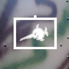 Schwertfisch Taktische Zeichen Sägefisch Aufkleber 12x9,5cm in weiß #A132