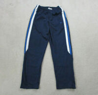 VINTAGE Nike Pants Adult Medium Blue White Swoosh Track Pants Warm Up Mens 90s *