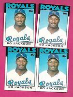 4 X 1986 TOPPS # 50T ROYALS BO JACKSON ROOKIE NRMT-MT CARD (INV# C3543)