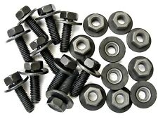 BMW Body Bolts & Barbed Nuts- M6-1.0mm x 20mm Long- 10mm Hex- Qty.10 ea.- #386