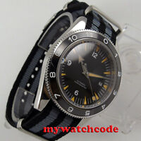 41mm DEBERT schwarz Zifferblatt Saphirglas Miyota Automatikwerk mens watch uhr