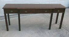 Century Furniture 3 Drawers Mahogany Chippendale Style Sofa Table