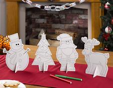 Weihnachten Basteln Tisch Dekoration Schneemann Santa Rentier Weihnachtsbaum