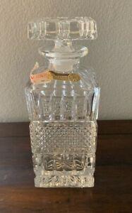 Vintage Bohemia Crystal Decanter of Czechoslovakia