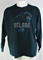 Carolina Panthers NFL Majestic Men's Black Plus Size Long Sleeve Shirt