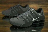 Nike Shox NZ Dark Grey Metallic Iron Ore 378341-059 Running Shoes Men's NEW