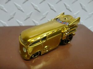 Loose Hot Wheels Gold Chrome Volkswagen Drag Bus