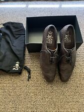 Barker Black Archdale Wingtip Charcoal Calfskin Size 11.5 (fits like 12)