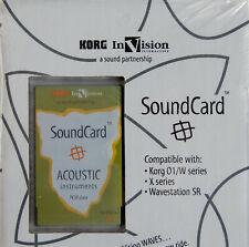 KORG InVision Soundcard ACOUSTIC Instruments 01/W-Series X-Series WaveStation SR