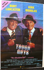 TOUGH GUYS 1980'S ORIG VIDEO MOVIE POSTER KIRK DOUGLAS BURT LANCASTER