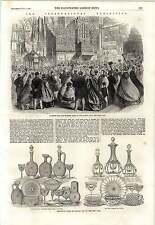1862 servizi in vetro pellatt EAST End Cupola Giorno di chiusura mostra