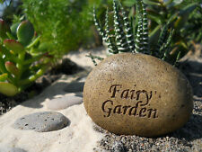 Fairy Garden Rock Stone Sign  Miniature Fairy Gnome Garden WS 1128