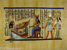 "Original Hand Painted Papyrus 8""X12"" (20x30cm) King Tut Cleopatra Nefertiti"