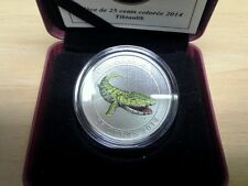 2014 Canada Glow In The Dark 25 Cent Coin Tiktaalik Prehistoric Creatures