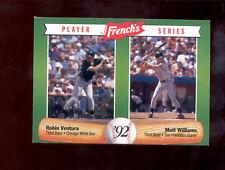 1992 French's ROBIN VENTURA MATT WILLIAMS Chicago White Sox Giants Card