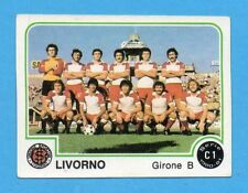 PANINI CALCIATORI 1980/81 - Figurina n.483- SQUADRA - LIVORNO -NEW
