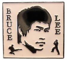 Bruce Lee Kung Fu Chinese Martial Art Hong Kong Actor 25mm Metal Enamel Badge