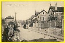 cpa RARE 95 - SANNOIS Rue du JARDIN RENARD Attelage Maison DUVAL Rue Damiette