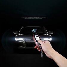 AUDI Smart Remote Case Cover Guscio Fob Pelle Borsa Protettore in Argento con Catena