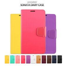 Samsung S6 Edge/Plus Mercury Sonata PU Leather Wallet Flip Stand Card Case Cover