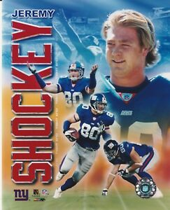 JEREMY SHOCKEY #80 NEW YORK GIANTS 8X10 COLOR COLLAGE LICENSED PHOTO