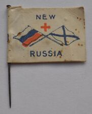 1914-18 Rare Charity Pin Badge Uk Britain to Imperial Russia Wounded Soldiers