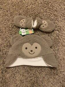2 Piece Set Baby Boy Hat With Mittens 6-9 Months