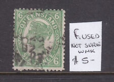 Qld: 6d Green Qv Sg ? F.Used Not Sure Of Wmk