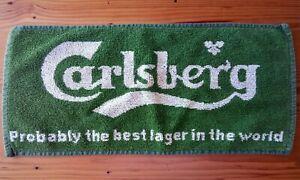 carlsberg lager beer golf bar towel cloth pub home gift man cave used