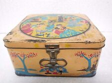 Vintage Old Rare Esso Portable Stove Ad. Litho Tin Box. Collectible