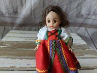 Vintage Madame Alexander CZECHOSLOVAKIA Doll 1984 International Series w/ Stand