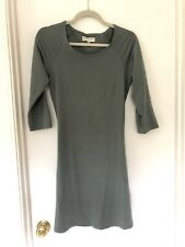 Synergy Organic Clothing Sage Green Dress Cotton 3/4 Sleeve Sz S / M