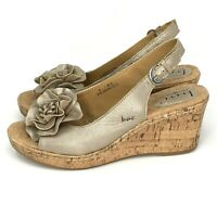 Born Concepts BOC Womens Flower Sandals Cork Wedge Slides