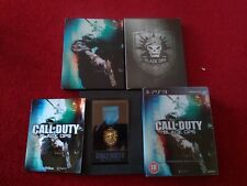Call of Duty Black Ops Hardened Edition Steelbook with medal complete PS3 RARE