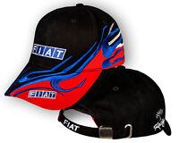 FIAT Noir Rouge Casquette Brodé Auto Logo Chapeau Baseball Cap Homme Femme