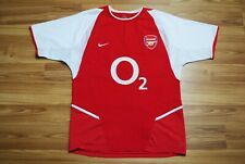 ARSENAL LONDON 2002/2004 HOME FOOTBALL SHIRT JERSEY NIKE SIZE SMALL O2 RETRO RED