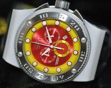 Invicta Men's Rare Akula Chronograph Red Dial Black Polyurethane Watch 12297