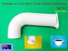 Portable A/C Spare Parts Outlet Oblate Gob+Hose 2.5m Only - 2pcs/set (15cm) NEW
