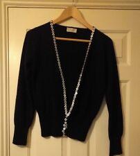 PRINGLE,  soft 100% cashmere Cardigan, Black, Size Medium but fits small side