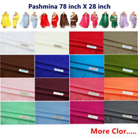 Soft Luxurious Pashmina Cashmere Wrap shawl stole Cashmere Wool Silk Scarf