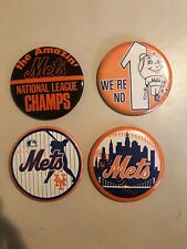 Vintage 1960's 1970's New York Mets Buttons Pin Backs