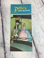 Vintage Potters Wax Museum Florida Paper Travel Brochure Souvenir / Advertising