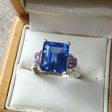 Stunning CZ Ring, Hm 925, Size T  Weight 5.7g, Sterling Silver Hm 925