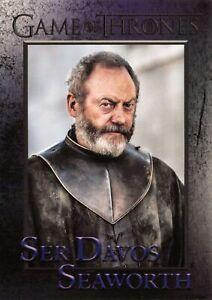SER DAVOS SEAWORTH (Liam Cunningham) Game Thrones Season 8 (2020) BASE Card #34
