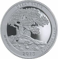 2013 ATB GREAT BASIN NEVADA CLAD GEM PROOF DCAM STATE PARK QUARTER ROLL (40)