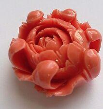 1 Acrylic Peony Bead, Pink, 30 mm. Jewellery Making/Charm Bead/Crafts