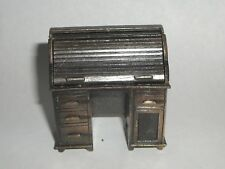 Vintage Miniature Brass Roll Top Desk Pencil Sharpener