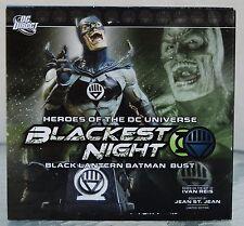 DC Direct Heroes of the DC Universe Blackest Knight Black Lantern Batman Bust